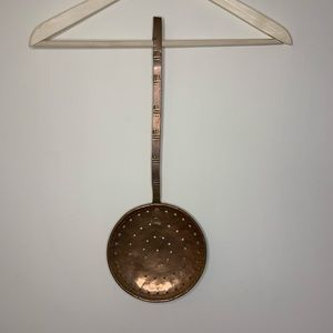 Vintage French copper and brass skimmer